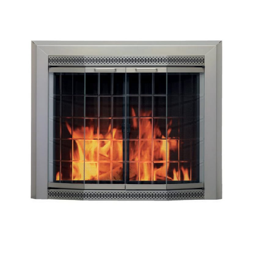 Shop Pleasant Hearth Medium Fireplace Glass Doors At Lowes