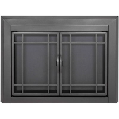 Gunmetal Gl Fireplace Door At Lowes