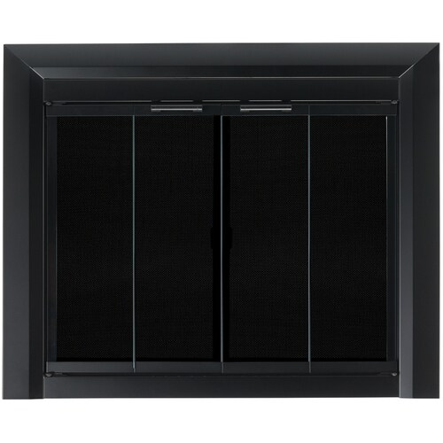 Pleasant Hearth Clairmont Black Small Bi Fold Fireplace Doors With