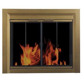 Pleasant Hearth Carrington Antique Brass Small Bi-Fold Fireplace Doors with Smoke Tempered Glass  sc 1 st  Loweu0027s & Shop Fireplace Doors at Lowes.com