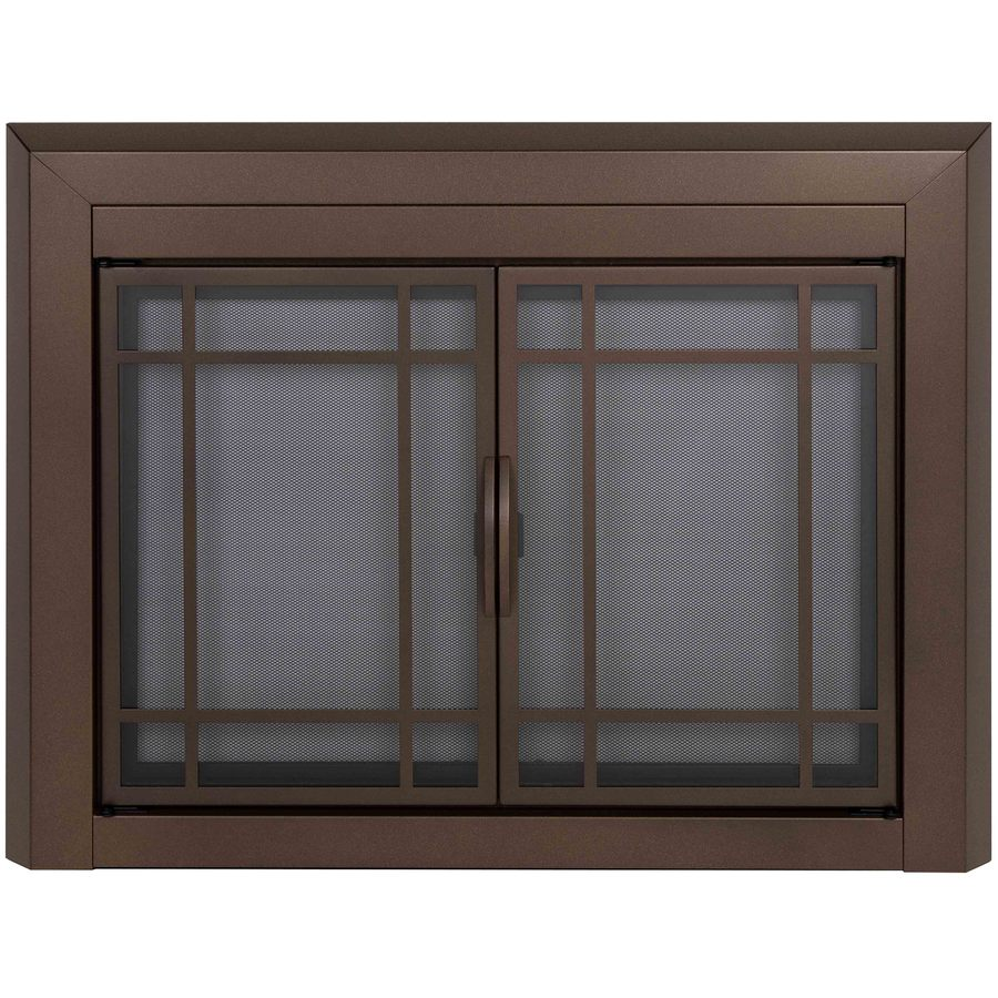 Shop Pleasant Hearth Enfield Burnished Bronze Large Cabinet Style Fireplace Doors With Smoke