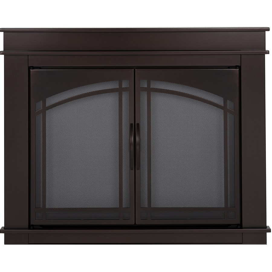 Pleasant Hearth Fenwick Oil-Rubbed Bronze Large Cabinet-Style Fireplace  Doors with Smoke Tempered - Shop Fireplace Doors At Lowes.com