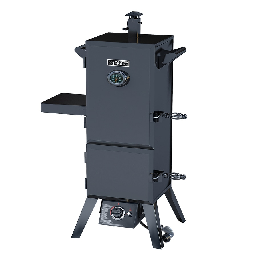 Master Forge 50.15-in 20 lb Cylinder Piezo Ignition Gas Vertical Smoker