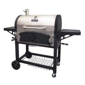 572fff14551 Dyna-Glo 32-in Stainless Steel and Black Barrel Charcoal Grill
