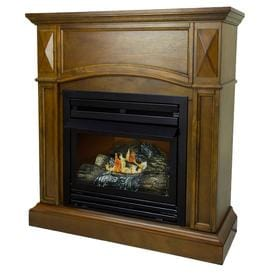 Pleasant Hearth 35 75 In Dual Burner Heritage Gas Fireplace