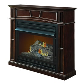 Pleasant Hearth 45.88 In Dual Burner Vent Free Tobacco Flat Wall Natural Gas