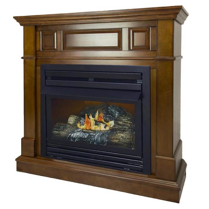 Pleasant Hearth 42 In Heritage Ventless Liquid Propane Gas Fireplace In The Gas Fireplaces Department At Lowes Com