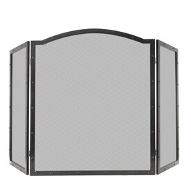 Exceptionnel Pleasant Hearth 50 In Antique Black Steel 3 Panel Arched Fireplace Screen
