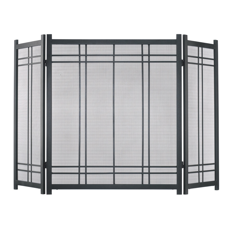 shop fireplace screens at lowescom - pleasant hearth in vintage iron steel panel craftsman fireplace screen