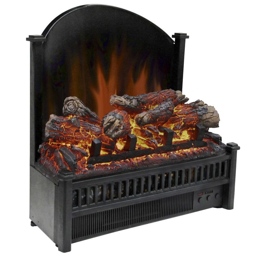 shop pleasant hearth 23 in 4 600 btu black electric fireplace logs