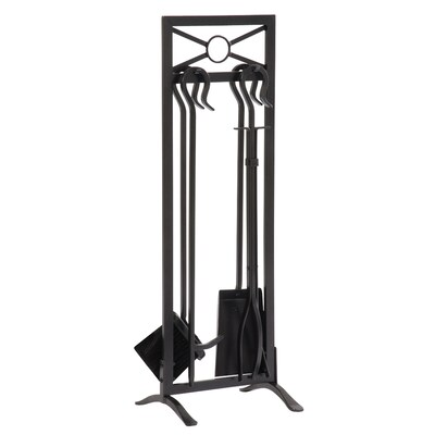 Allen Roth 5 Piece Metal Fireplace Tool Set At Lowes Com