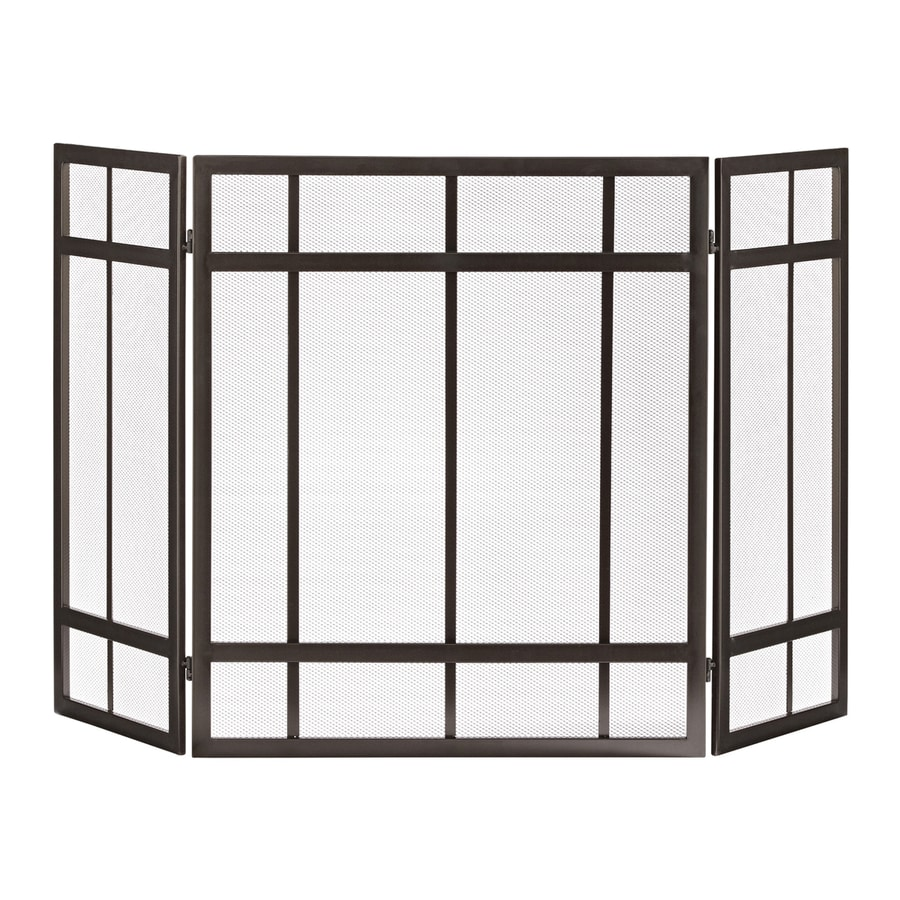 Shop allen + roth craftsman-style fireplace screen at Lowes.com