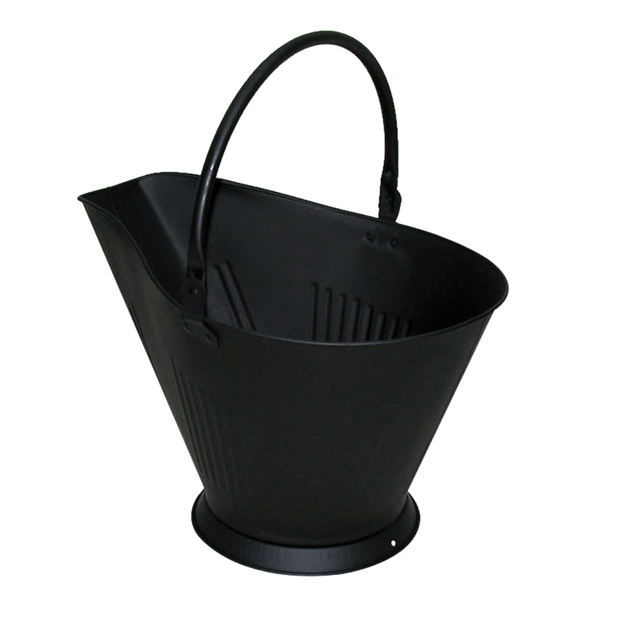 Pleasant Hearth Black Steel Ash Bucket