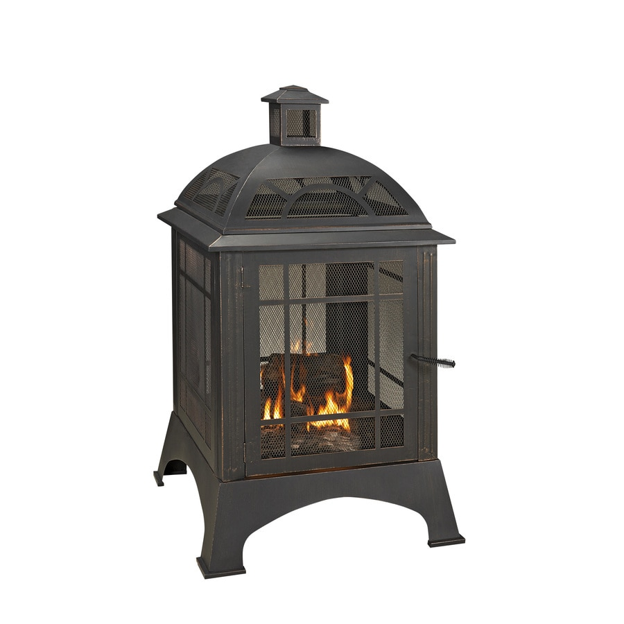 28.15-in W Rubbed Bronze Steel Wood-Burning Fire Pit