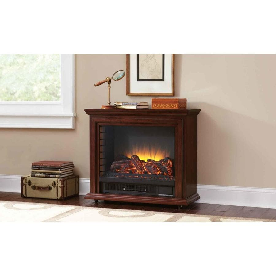 shop pleasant hearth 31 75 in w 5200 btu cherry wood and metal