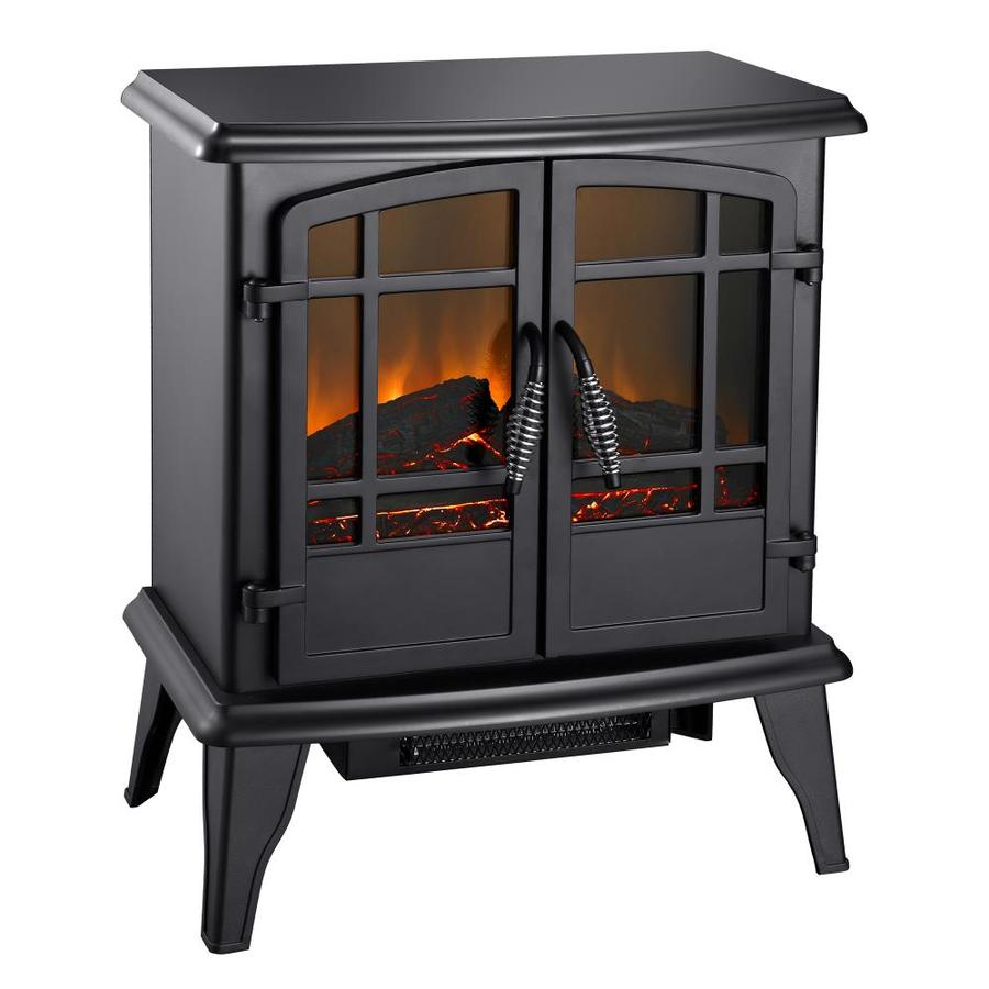 Pleasant Hearth 20-in W 4,600-BTU Black Metal Fan-Forced Electric Stove