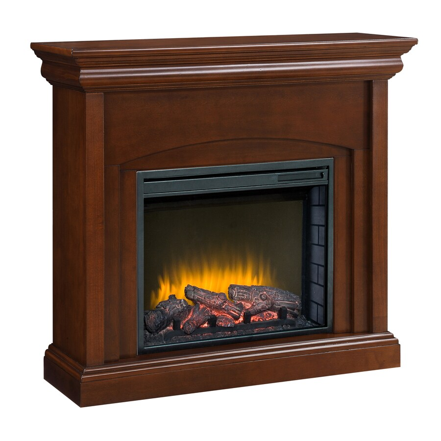 Pleasant Hearth 42-in W 4,600-BTU Cherry Wood Fan-Forced Electric Fireplace with Thermostat and Remote Control