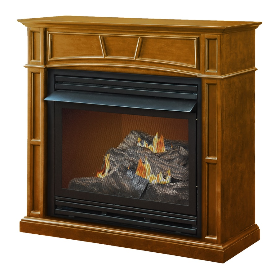 Natural gas wall mount fireplaces - Pleasant Hearth 45 875 In Dual Burner Vent Free Heritage Flat Wall Liquid Propane