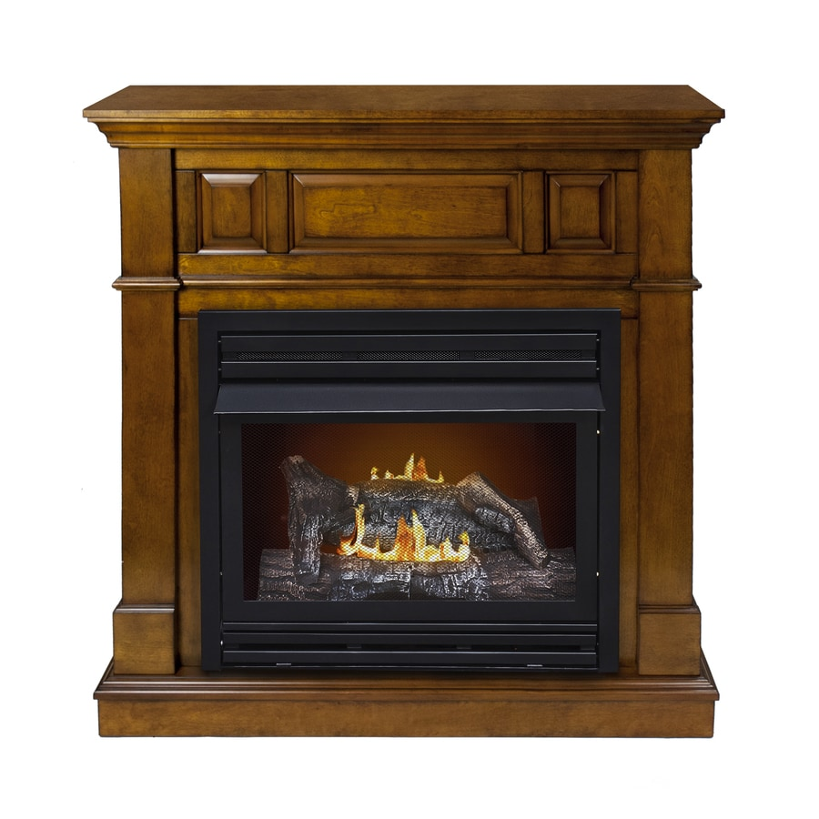 Shop Pleasant Hearth 42 In Dual Burner Vent Free Heritage Corner Liquid Propane Or Natural Gas