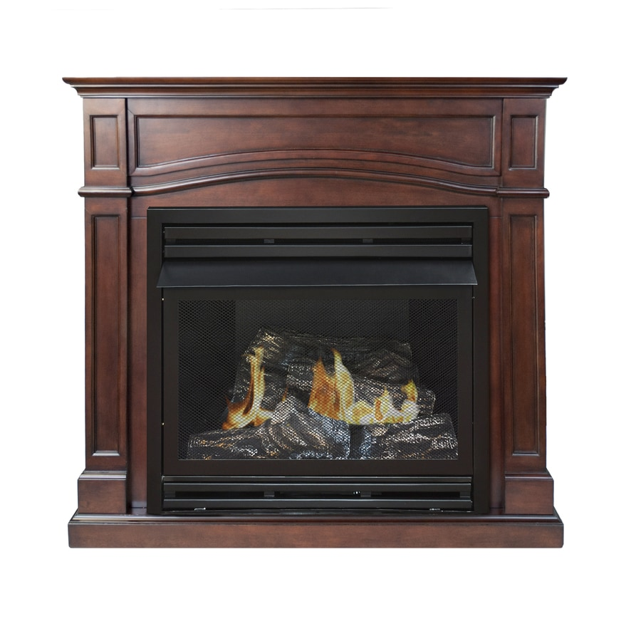 Efficiency of gas fireplace - Pleasant Hearth 45 875 In Dual Burner Vent Free Cherry Liquid Propane Or Natural