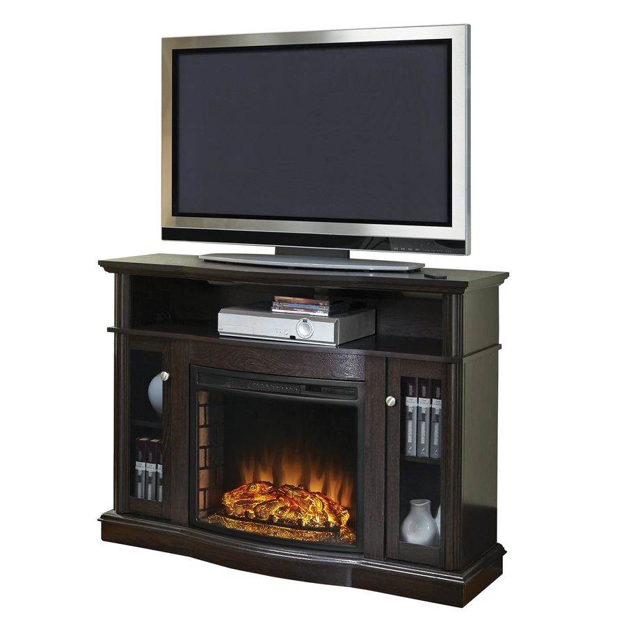 Pleasant Hearth 47.76-in W 4,600-BTU Merlot Wood Fan-Forced Electric  Fireplace - Shop Electric Fireplaces At Lowes.com