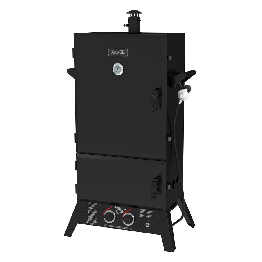 Dyna-Glo 20-lb Cylinder Electronic Ignition Gas Vertical Smoker (Common: 55-in; Actual: 56.55-in)