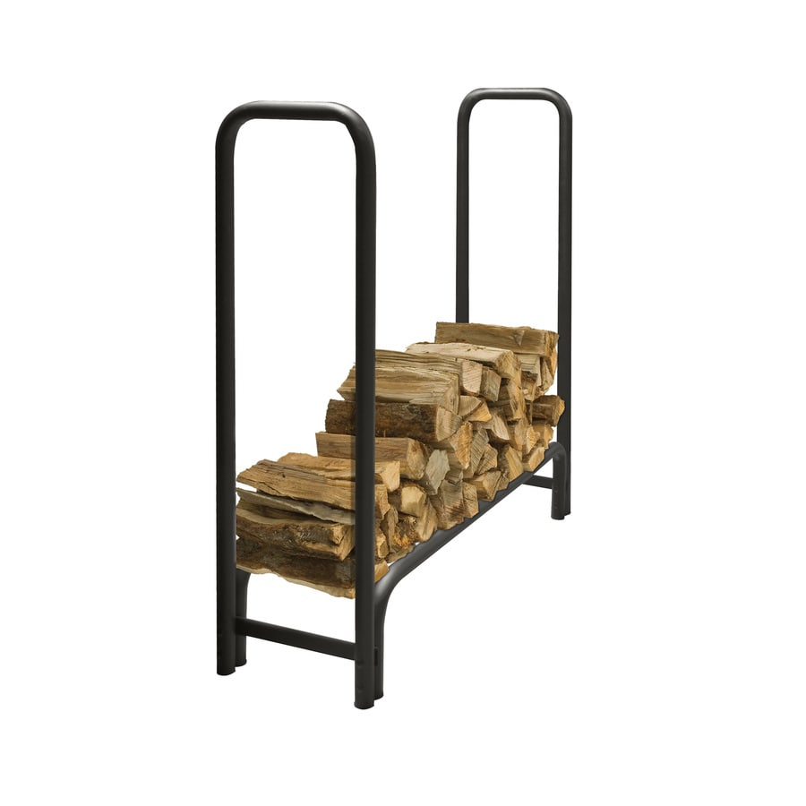 Pleasant Hearth 48-in x 14-in x 49-in Steel Quarter Cord Firewood Rack