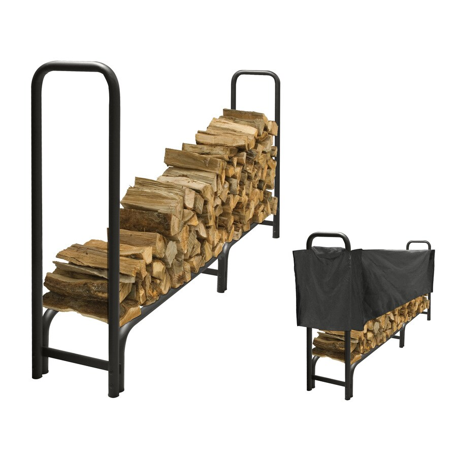 Pleasant Hearth 48-in x 14-in x 95-in Steel Half Cord Firewood Rack