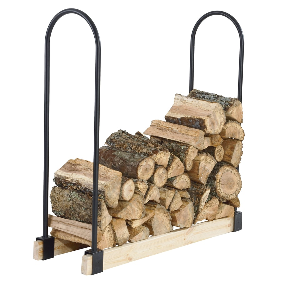 Pleasant Hearth 48-in x 14-in Steel Adjustable Firewood Rack