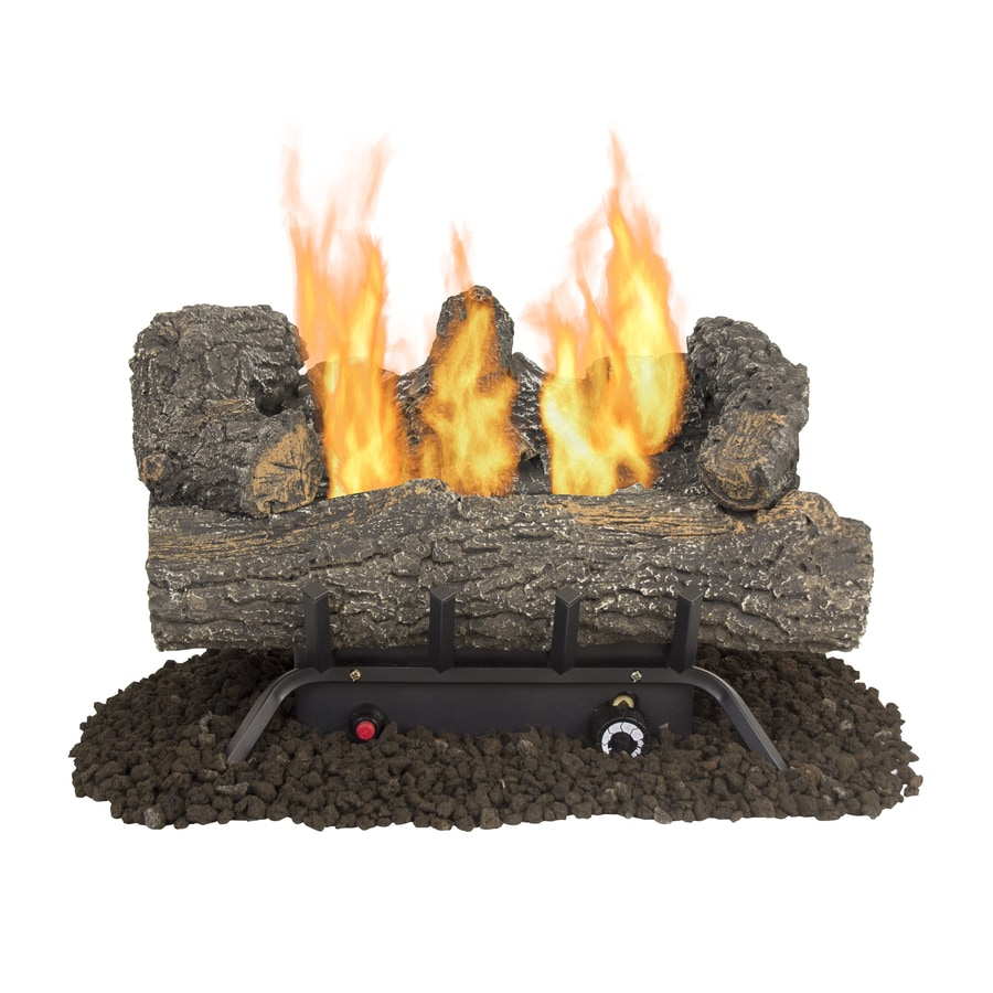 Shop pleasant hearth 18-in 30000-btu dual-burner vent-free gas fireplace logs in the gas fireplace logs section of Lowes.com