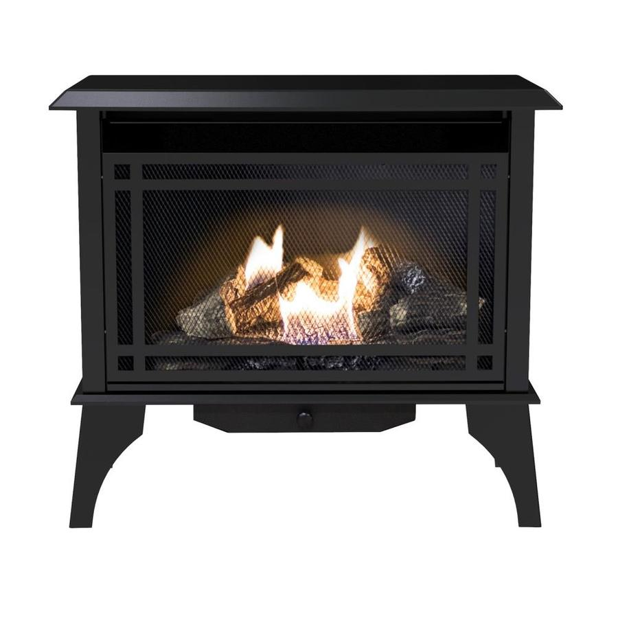 shop pleasant hearth 1000 sq ft dual burner vent free natural gas