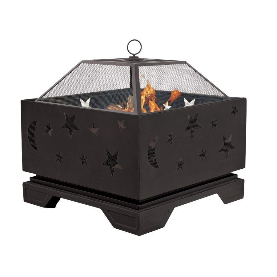 Pleasant Hearth 25.98-in W Rubbed Bronze Steel Wood-Burning Fire Pit