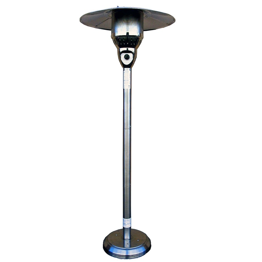 Garden Treasures 41 000 Btu Stainless Steel Floorstanding Natural Gas Patio Heater