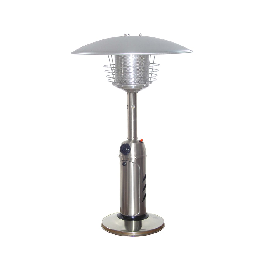 Garden Treasures 11,000-BTU Stainless Steel Liquid Propane Patio Heater - Shop Garden Treasures 11,000-BTU Stainless Steel Liquid Propane