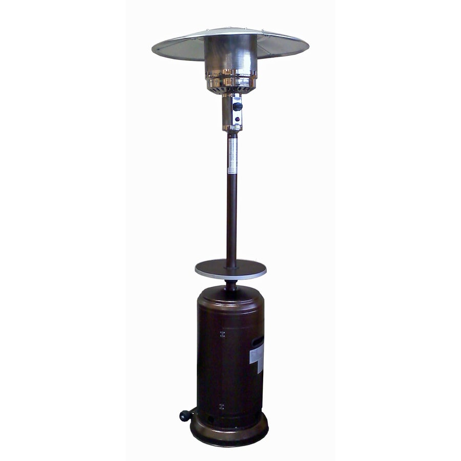 Garden Treasures 41 000 Btu Hammered Gold Steel Floorstanding Liquid Propane Patio Heater