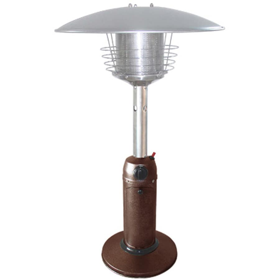 Garden Treasures 11,000-BTU Hammered Bronze Steel Liquid Propane Patio Heater