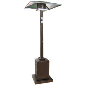 Garden Treasures 38,000 BTU Hammered Bronze Steel Liquid Propane Patio  Heater