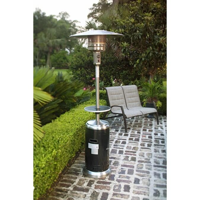 Garden Treasures 41,000-BTU 2-Tone Black/Stainless Steel