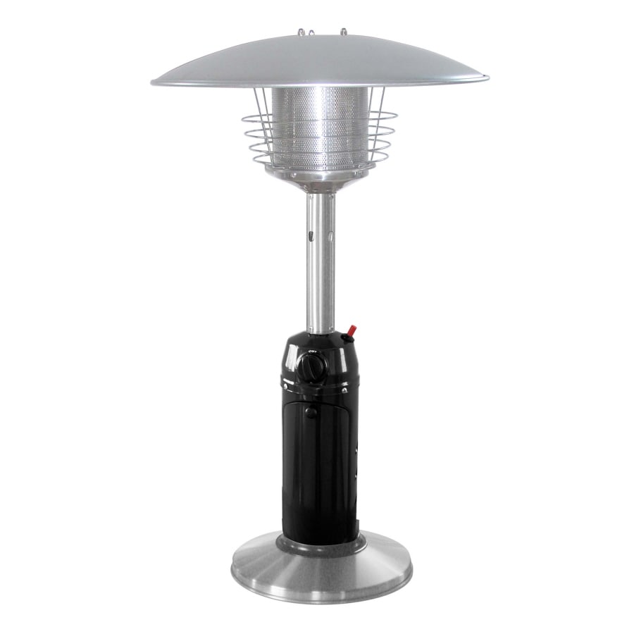 Garden Treasures 11,000-BTU 2-Tone Black/Stainless Steel Liquid Propane Patio Heater