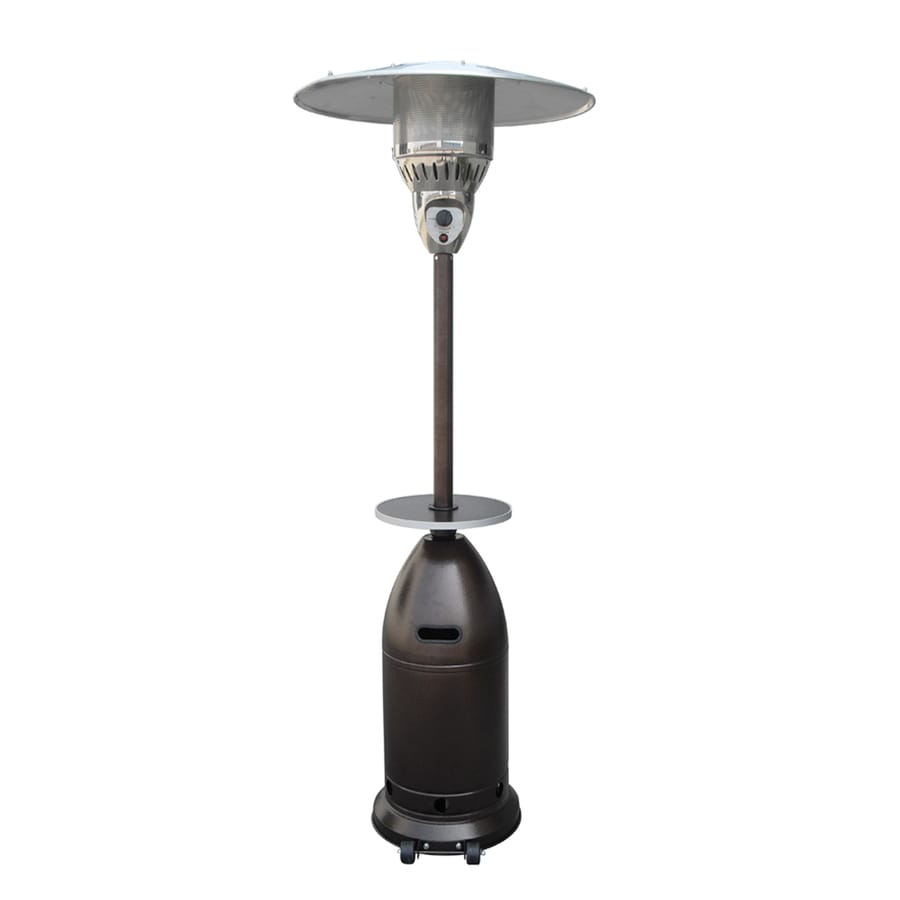 Exceptional Garden Treasures 41,000 BTU Hammered Gold Stainless Steel Liquid Propane  Patio Heater