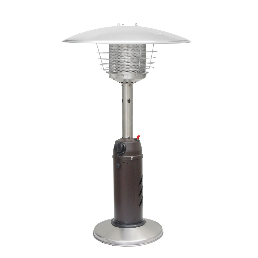 Garden Treasures 11,000-BTU Mocha Steel Liquid Propane Patio Heater