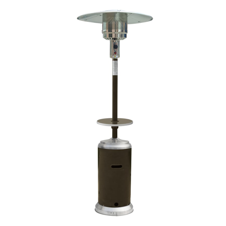 Garden Treasures 41,000 BTU Mocha Steel Floorstanding Liquid Propane Patio  Heater