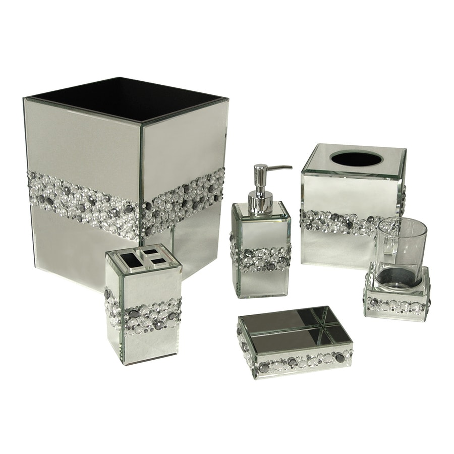 shop elegant home fashions bling 6 piece bathroom accessory set at