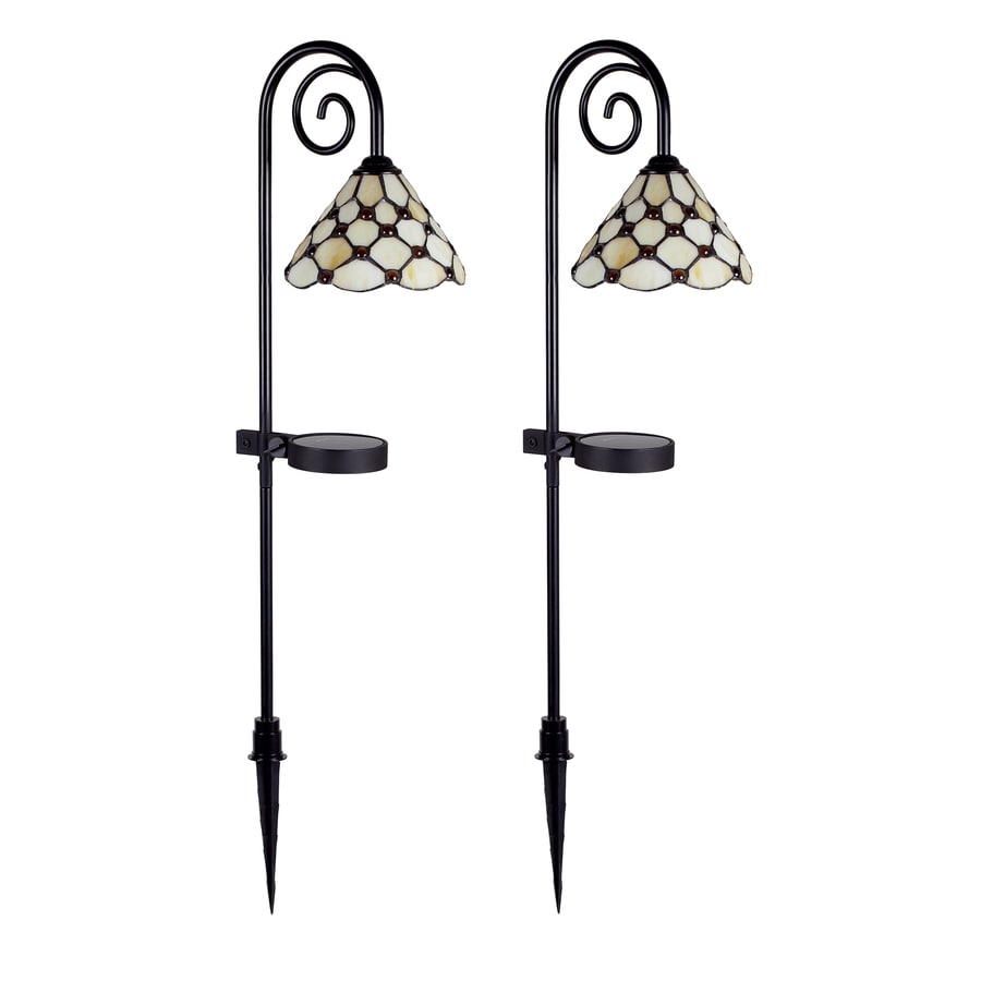 allen + roth 2-Light Tiffany LED Path Light Kit