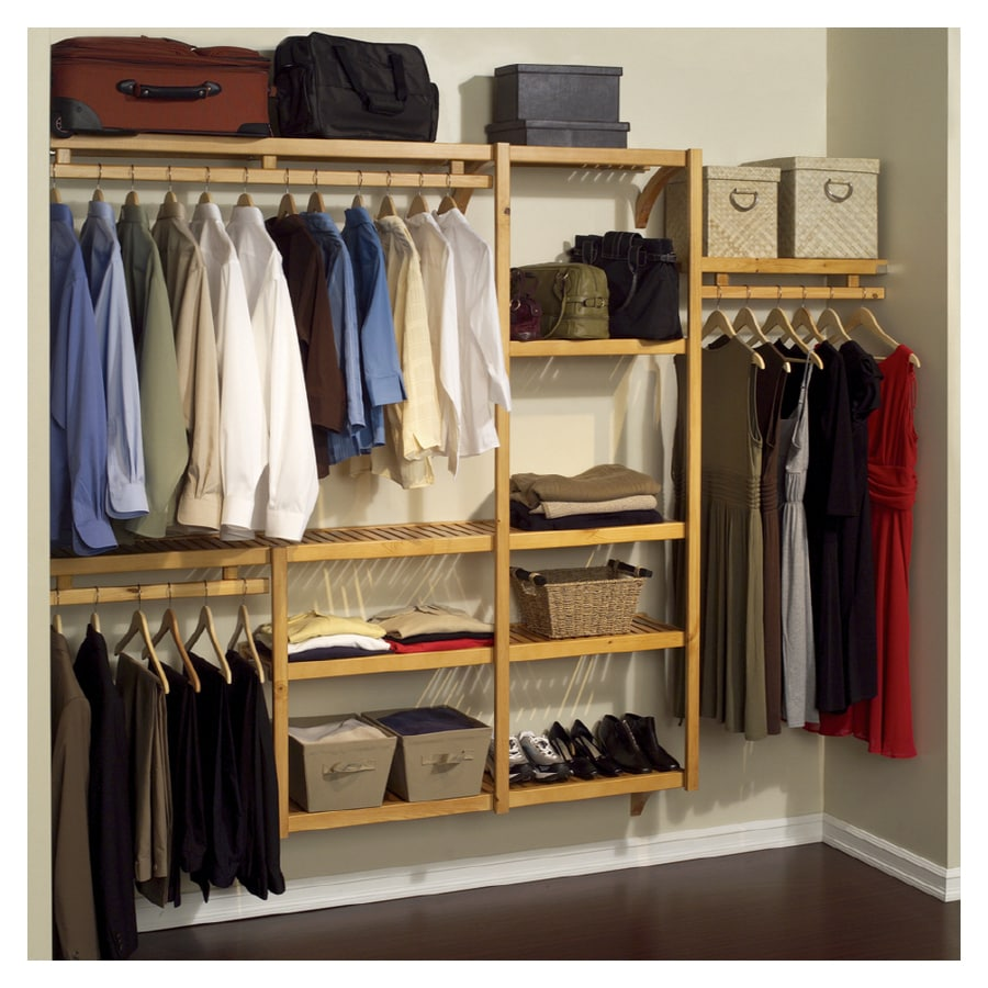 Lowes wire shelving systems for closets - Wire Closet Organizers John Louis Home 24u0027 Shelf Space 120