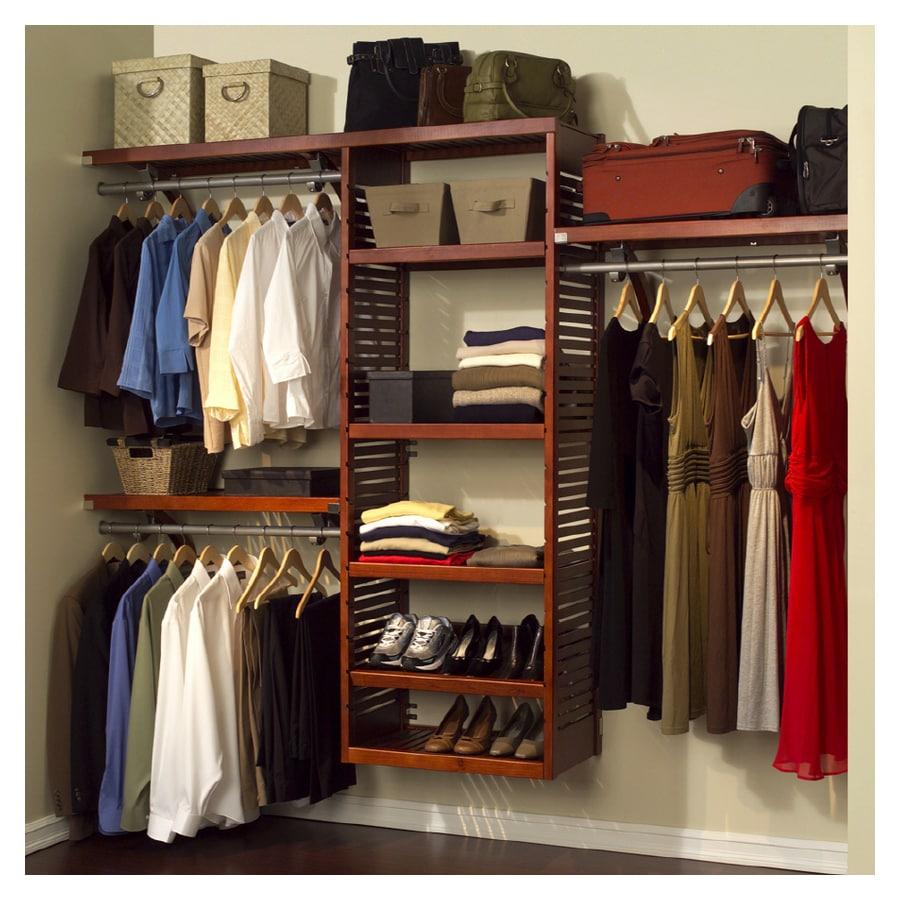 John Louis Home 84 X 120 Red Mahogany Wood Closet System