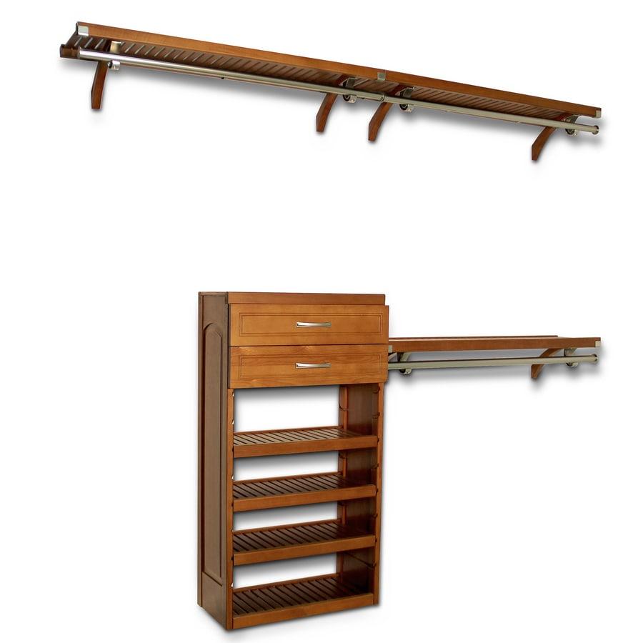 Beautiful John Louis Home 10 Ft X 8 Ft Carmel Wood Closet Kit