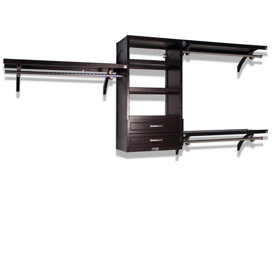 Shop John Louis Home 10 Ft Espresso Wood Closet Kit At