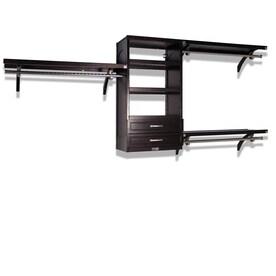 Bedroom Furniture Decoration With Allen U0026 Roth Teak Wood Closet Kit Includes 1 Solid