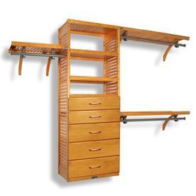John Louis Home 10 Ft X 96 Ft Honey Maple Wood Closet Kit
